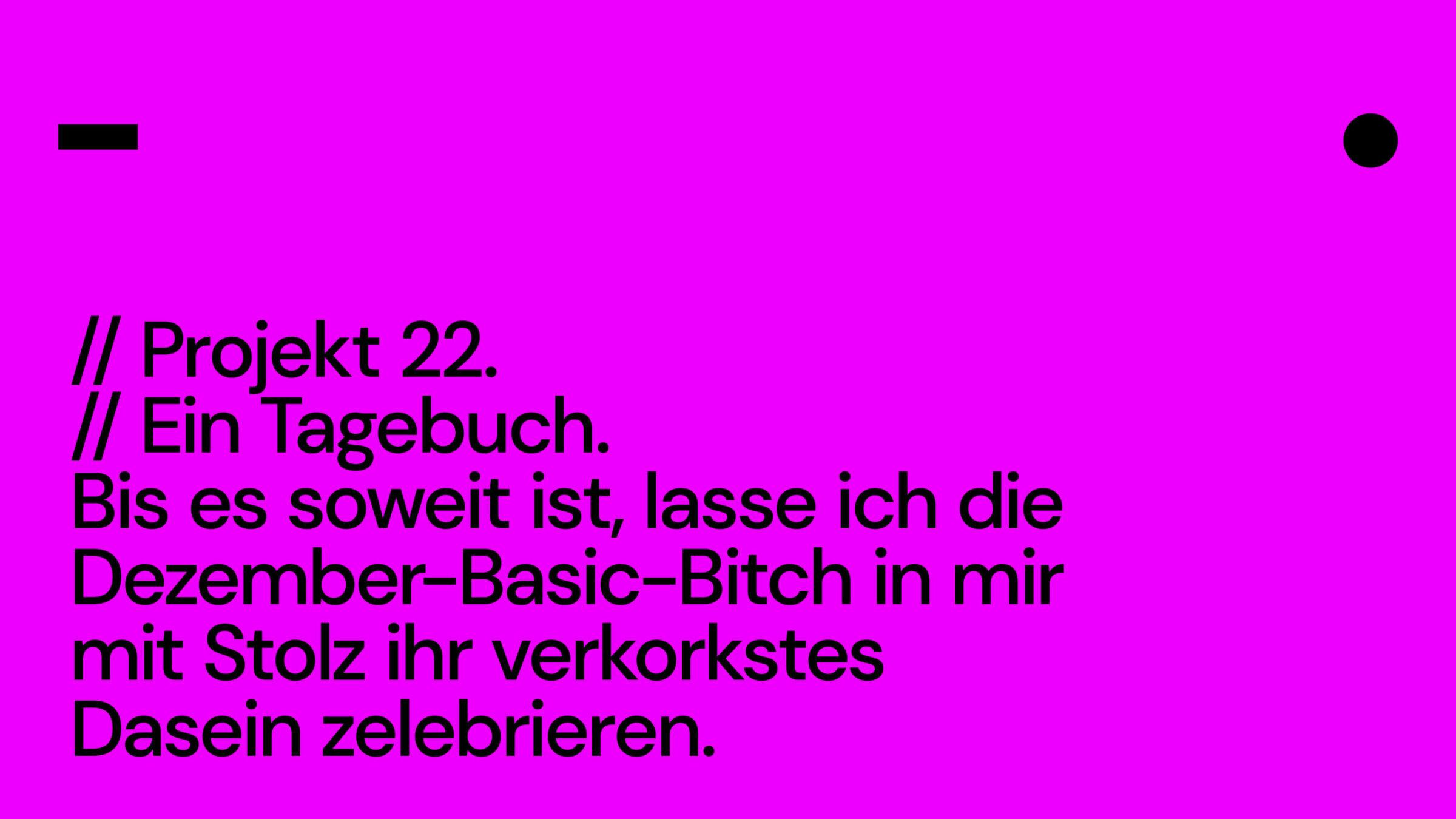 Projekt 22. Ein Tagebuch.