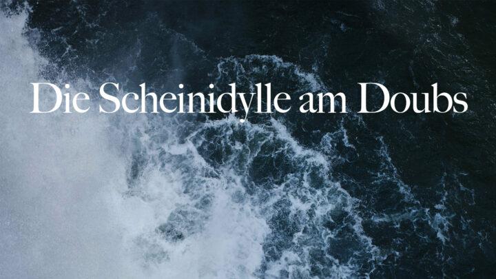Wasserfall mit Titel